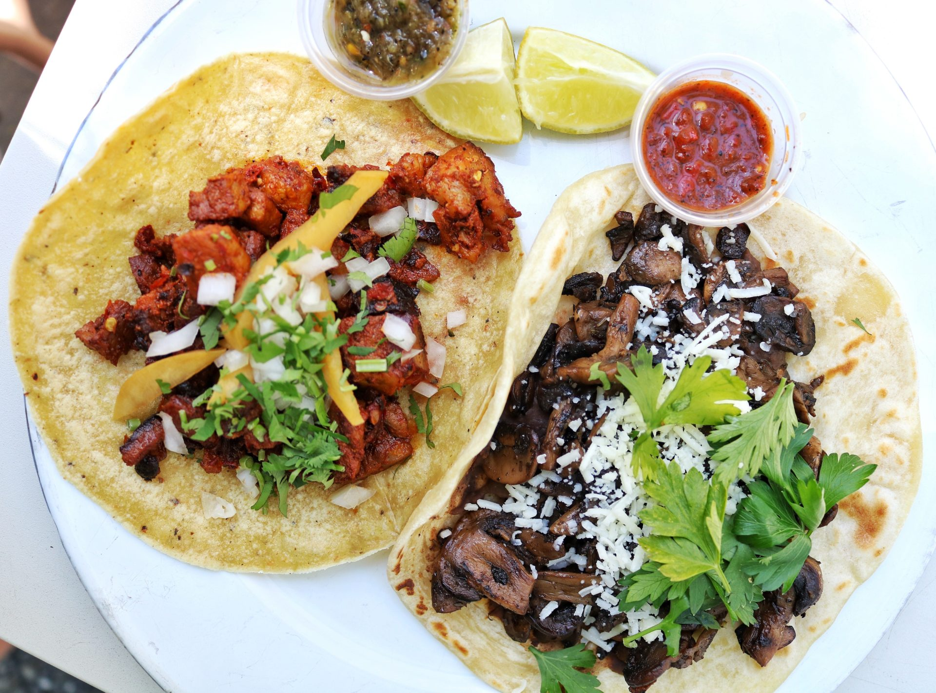 The best tacos in Austin Texas: Dai Due Taqueria