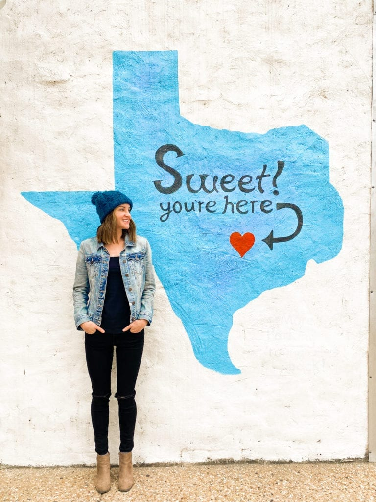 Sweet! You're Here mural in Austin