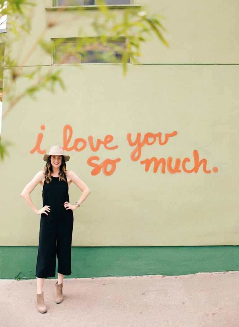 I Love You So Much Mural in Austin Texas