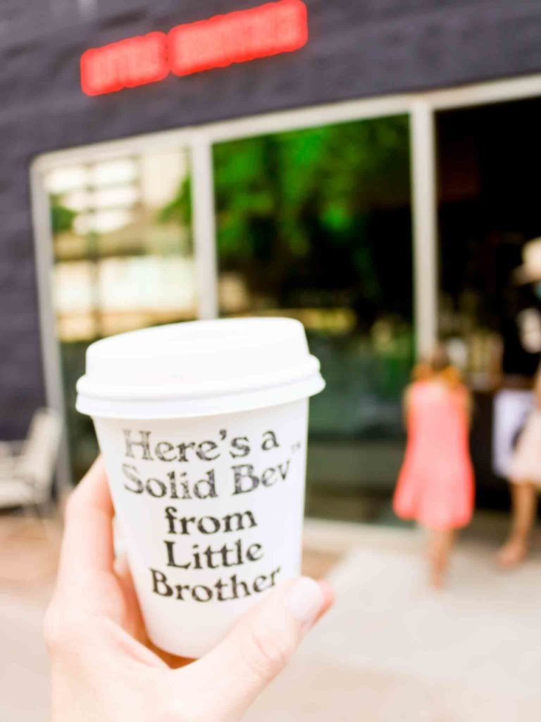 A coffee at Little Brother Bar on Rainey Street